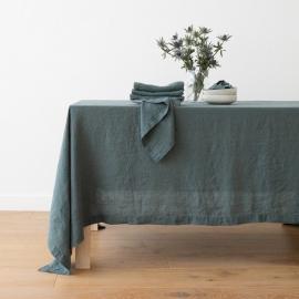 Balsam Vert Nappe en Lin Stone Washed