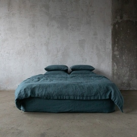 Balsam Vert Toile de Lin Stone Washed