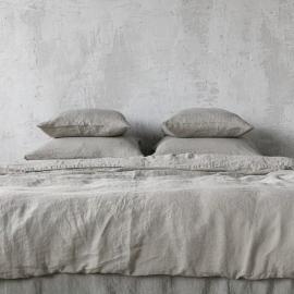 Parure de lit en lin lavé Taupe