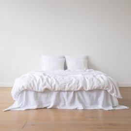 Parure de lit en lin lavé Optical White