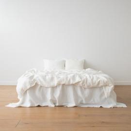 Parure de lit en lin lavé Off White