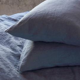 Parure de lit en lin lavé Blueberry