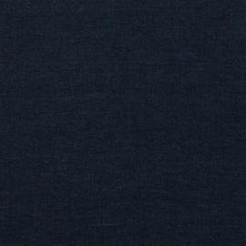 Navy Blue Échantillon de Toile de Lin Stone Washed