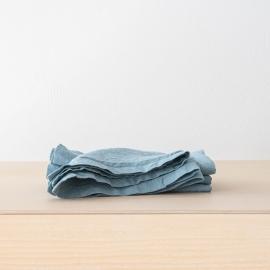 Serviette de table en lin effet délavé Stone Blue