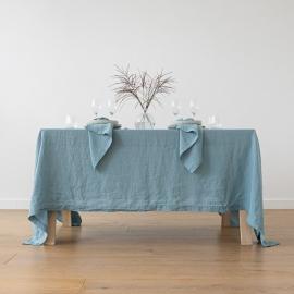 Nappe en lin, effet délavé, Stone Blue