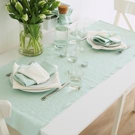 Chemin de table en lin Terra Mint