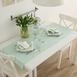 Chemin de table en lin Terra Mint