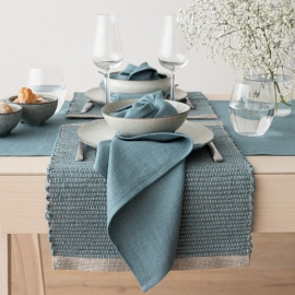 Set de Table en Lin Stone Blue Lara