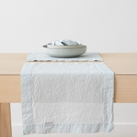 Set de Table en Lin Stone Washed Ice Blue