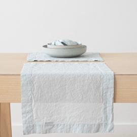 Set de Table en Lin Stone Washed Ice Blue
