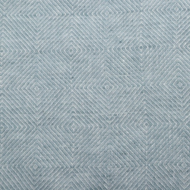 Stone Blue Toile de Lin Stone Washed Rhomb