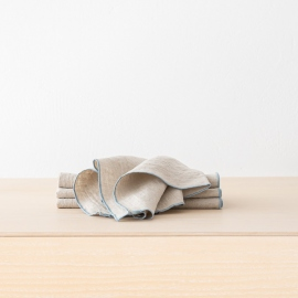 Serviette de table en lin Venezia Natural Stone Blue
