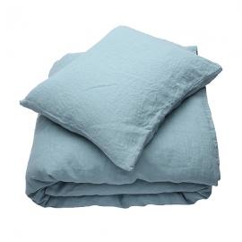 Parure de lit en lin lavé Stone Blue