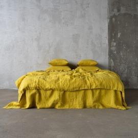 Parure de lit en lin lavé Citrine