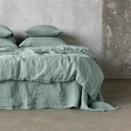 Spa Grey Drap Housse en Lin Stone Washed