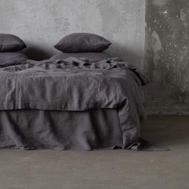 Steel Gris Housse de couette en Lin Stone Washed