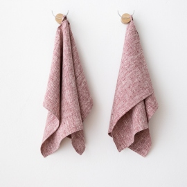 Lot de 2 Cherry Serviettes de toilette Lin Francesca