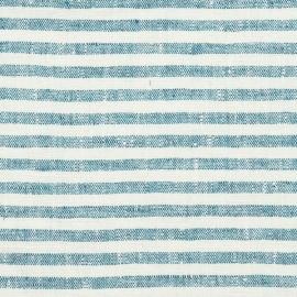 Tissu en lin Bleu Marine Bretagne Prélavé