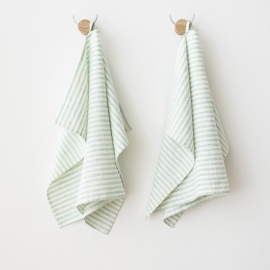 Lot de 2 Mint Serviettes de toilette Lin Brittany