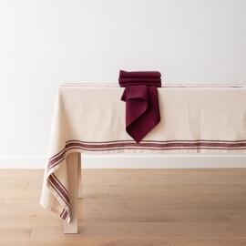 Serviettes de table en Lin Lara Cherry Lavable