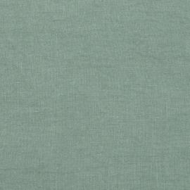 Spa Green Échantillon de Toile de Lin Stone Washed