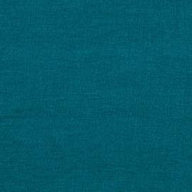 Marine Blue Échantillon de Toile de Lin Stone Washed