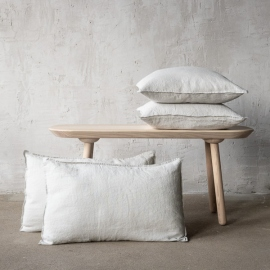 Housse de Coussin Lin Stone washed Silver