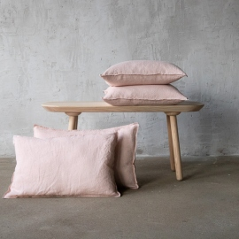 Housse de Coussin Lin Stone Washed Rosa
