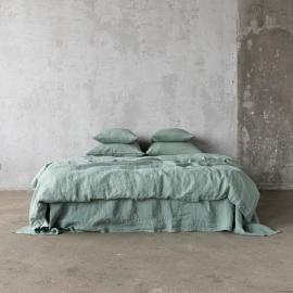 Parure de lit en lin lavé Spa Green