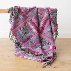Plaid en laine Mérinos Marta Purple