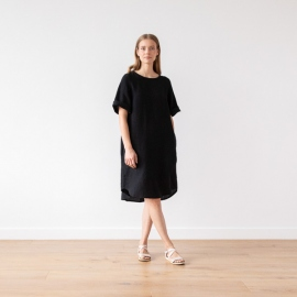 Black Lin Robe Luisa