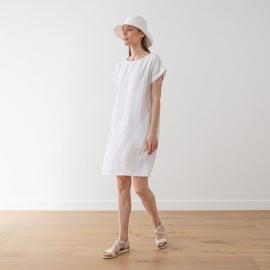 White Lin Robe Alice