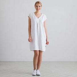 White Lin Robe Emily