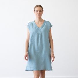 Marine Blue Lin Robe Emily