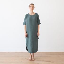 Balsam Green Lin Robe Longue Nora