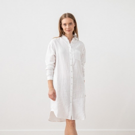Optical White Robe Chemise en Lin Paula