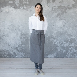 Tablier du Chef en Lin Lavé Steel Grey