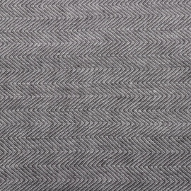 Gris Toile de Lin Stone Washed Herringbone