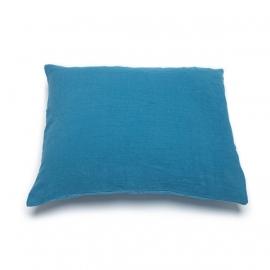 Sea Blue Drap Housse en Lin Stone Washed