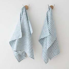Lot de 2 Mint Serviettes de toilette Lin Brittany