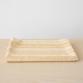 Serviettes de Bain en Lin Gold Multistripe
