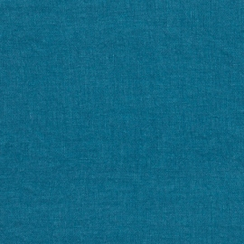 Sea Blue Échantillon de Toile de Lin Stone Washed