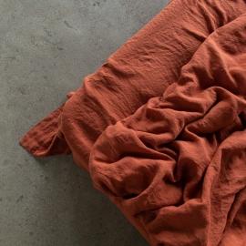Brick Drap Plat en Lin Stone Washed