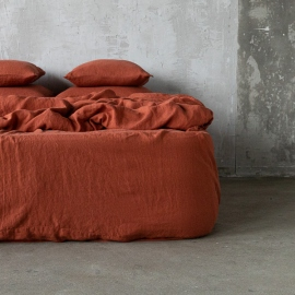Brick Drap housse en Lin Stone Washed