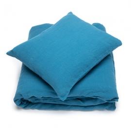 Parure de lit en lin lavé Sea Blue