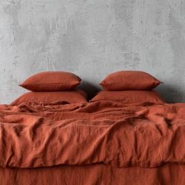 Brick Parure de lit en lin lavé Stone Washed