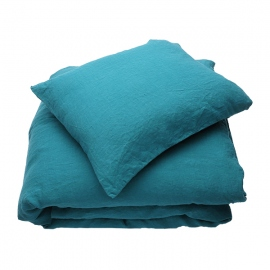 Parure de lit en lin lavé Sapphire