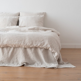 Natural Housse de couette en Lin Ticking Stripe