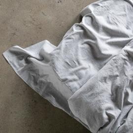 Graphite Drap Plat en Lin Pinstripe Washed