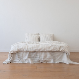 Natural Housse de Couette en Lin Stripe Washed